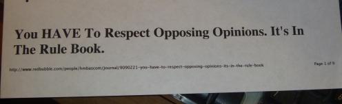 Respect... I